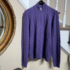 NWT Silk & Cashmere Ralph Lauren 1/4 zip sweater
